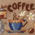 Káva předloha pro vyšívání