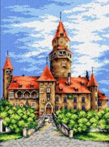 Hrad Bouzov - vyšívání